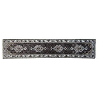 Runner Tabriz Mahi Wool and Silk Handmade Oriental Rug (2'6 x 12')