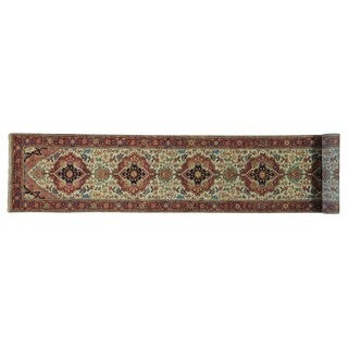 XL Runner Antiqued Heriz Recreation Oriental Rug Handmade (2'6 x 16')
