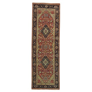 Runner Antiqued Heriz Recreation Handmade Oriental Rug (2'7 x 8')