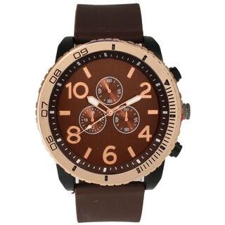 Olivia Pratt Men's Rose Gold Bezel Tachymeter Watch