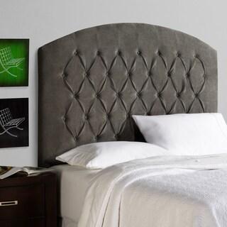 Humble + Haute Halifax Tall Grey Velvet Curved Upholstered Headboard