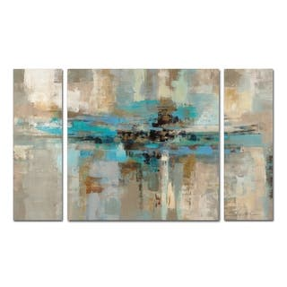 large wall art for living room. Silvia Vassileva Morning Fjord 3 Piece Canvas Wall Art Set Size Extra Large Gallery For Less  Overstock com