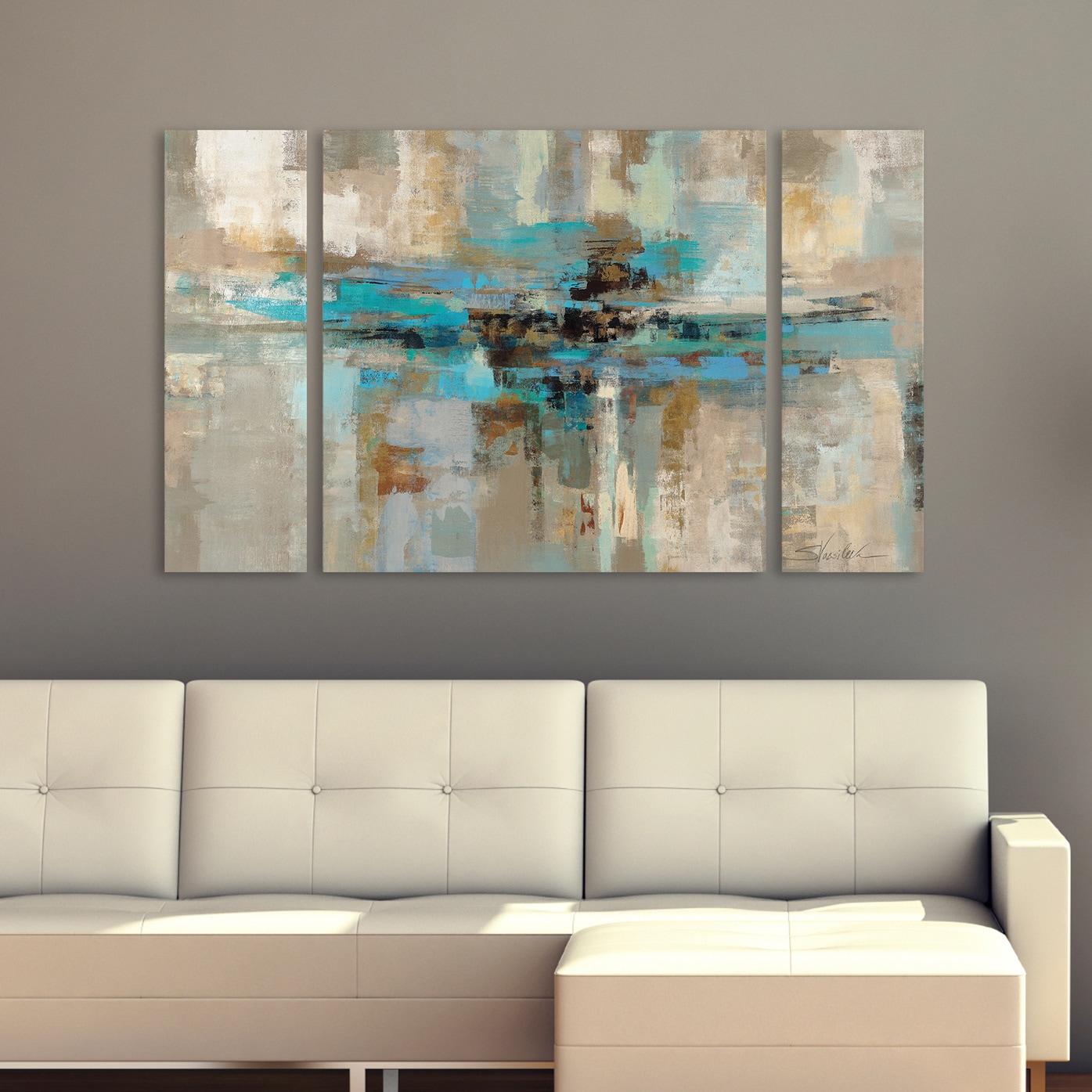 3 Piece Canvas Panel Set Wall Art Modern Contemporary Abstract