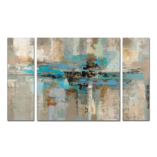 Shop Silvia Vassileva Morning Fjord 3-Piece Canvas Wall Art Set ...