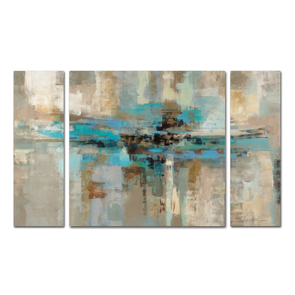 Silvia Vassileva Morning Fjord 3 Piece Canvas Wall Art Set
