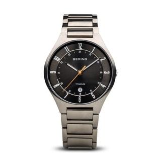 Bering Men's Titanium Collection Sapphire Crystal Titanium Link Watch 11739-772