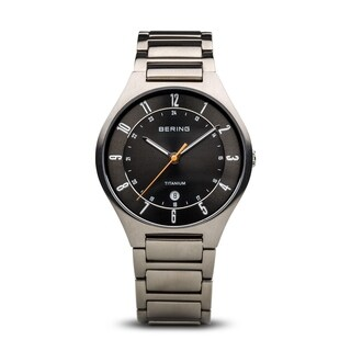 BERING Titanium Slim Watch With Sapphire Crystal & Silver Titanium Strap