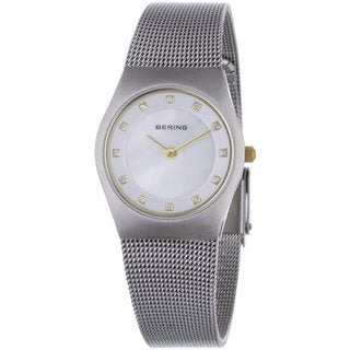 Bering Women's Austrian Crystals Silver Tone Stainless Steel Watch 11927-004