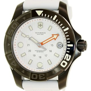 ictorinox Swiss Army Women's Dive Master 241556.1 White Rubber Swiss Quartz Watch