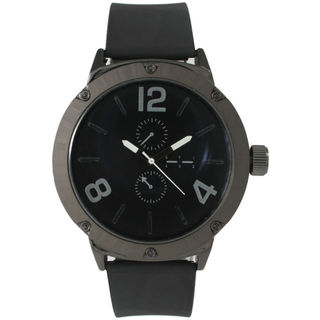 Olivia Pratt Men's Rugged Leather Watch