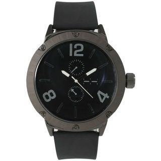 Olivia Pratt Men's Rugged Leather Watch