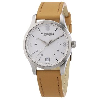 Victorinox Swiss Army Women's Alliance Quartz Tan Leather Watch 241541