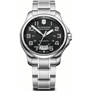 Victorinox Swiss Army Men's Officers Mecha Automatic Stainless Steel Watch 241373
