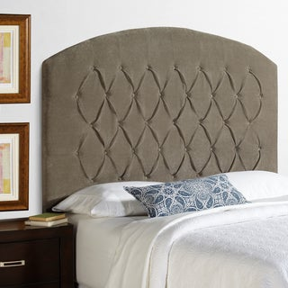 Humble + Haute Halifax Tall Light Grey Velvet Curved Upholstered Headboard (2 options available)