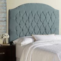 Humble + Haute Halifax Tall Blue Velvet Arched Upholstered Headboard