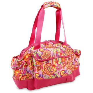 J World Pink Paisley Deca 22-inch Carry-on Duffel Bag