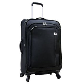 Samboro Feather Lite Lightweight Black 24-inch Expandable Spinner Suitcase