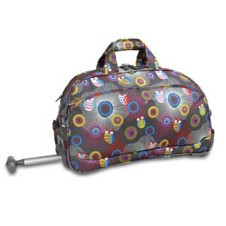 J World Blazing Owl Christy 20-inch Carry-on Rolling Duffel Bag