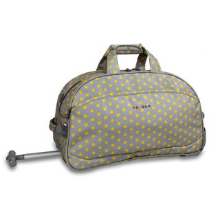 J World Candy Buttons Christy 20-inch Carry-on Rolling Duffel Bag