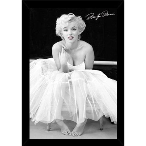 Shop Marilyn Monroe Ballerina Print with Contemporary Poster Frame ...