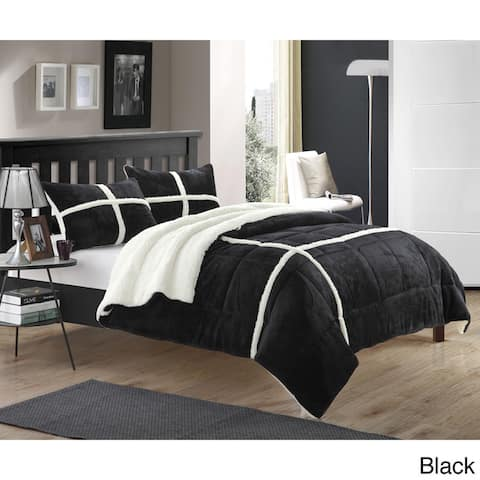 Copper Grove Otter River Lined Plush Microsuede 3-piece Comforter Set