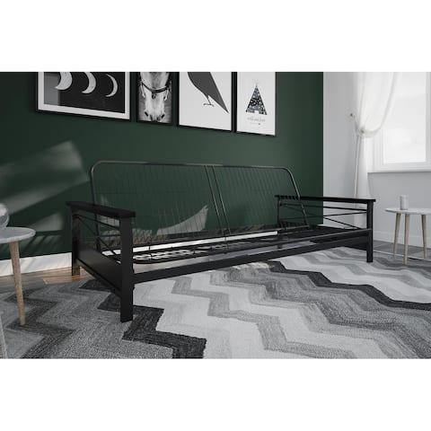 Avenue Greene Nico Metal Futon Frame with Wood Armrests