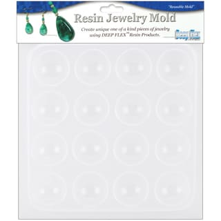 Resin Jewelry Mold 6.5inX7inCabachons  16 Cavity