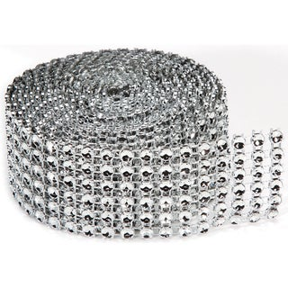 Bling On A Roll 4mmX2yd6 Rows, Silver