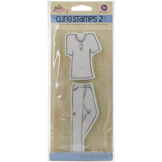 Julie Nutting Mixed Media Cling Rubber StampsSchool Wear Accessories
