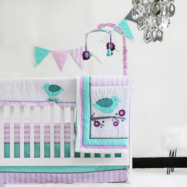 Pam Grace Creations Lovebirds 10-Piece Bedding Set