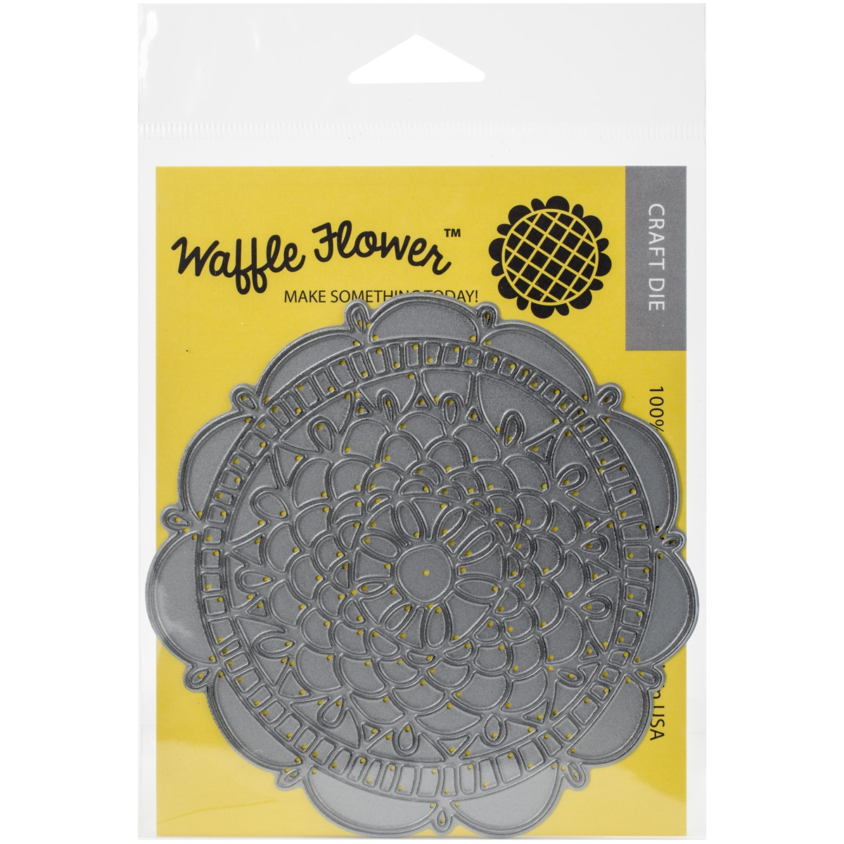 Waffle Flower DieDoily Circle (Doily Circle), Silver stee...