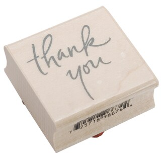 Inkadinkado Mounted Rubber Stamp 2.25inX1.5inThank You