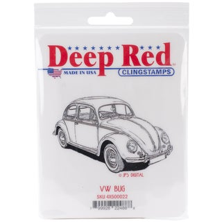 Deep Red Cling Stamp 2.25inX3.5inVW Bug