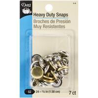 HeavyDuty Snaps 5/8in 7/PkgGilt