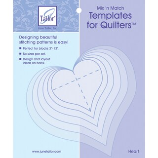 Mix'n Match Templates For Quilters 6/PkgHeart