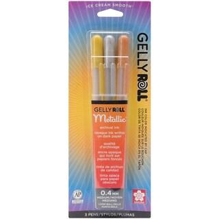 Gelly Roll Metallic Medium Point Pens 3/PkgGold, Silver & Copper