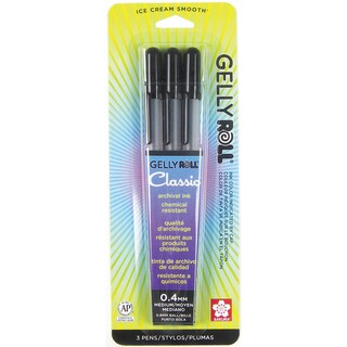 Gelly Roll Medium Point Pens 3/PkgBlack