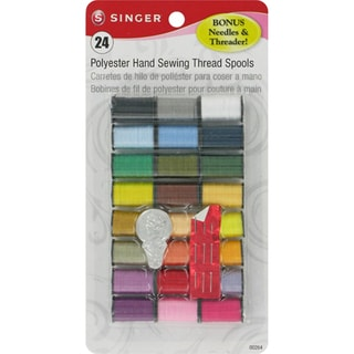 Polyester Thread 10yd 24/PkgAssorted Colors