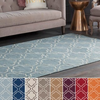 Flatweave Melksham Wool Rug (10' x 14') (Option: Navy)