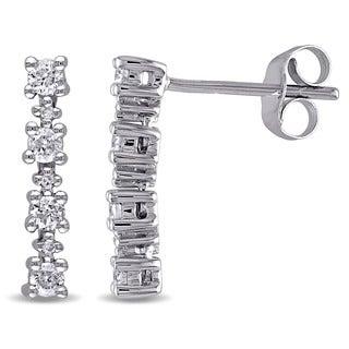 Miadora 10k White Gold 1/3ct TDW Diamond Dangle Earrings (G-H, I2-I3)