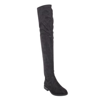 Bamboo Montana-53 Women's Stretch Side Zipper Snug Fit Thigh High Riding Boots
