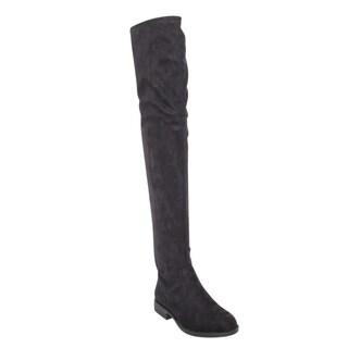 Bamboo Montana-53 Women's Stretch Side Zipper Snug Fit Thigh High Riding Boots