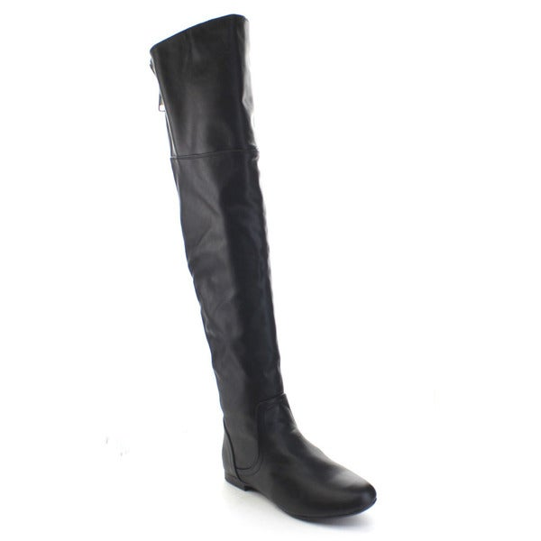 Bamboo Women's 'Tiara-45' Low Heel Back Zipper Over The Knee Riding Boots