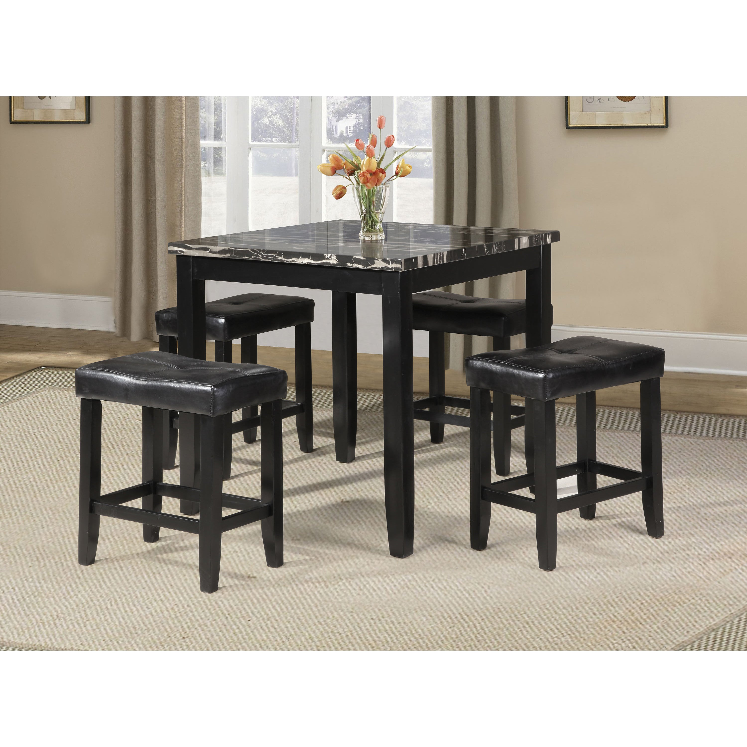 ACME Blythe 5-piece Pack Counter Height Set Table and Sto...