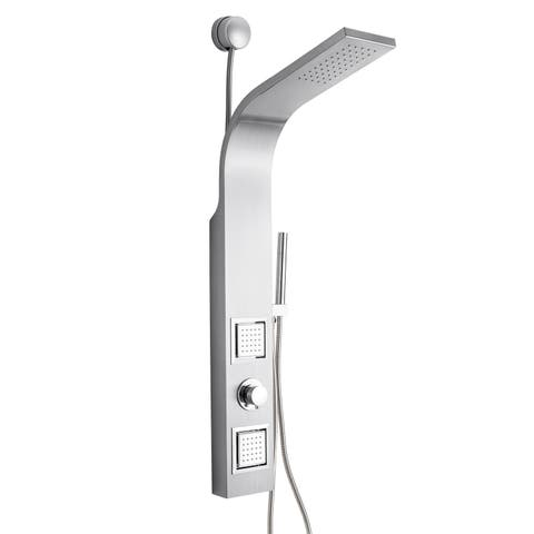 """AKDY 39"""" Stainless Steel Easy Connection Water Massage Rainfall Wall Mount Multi-Function Shower Panel Tower System"""