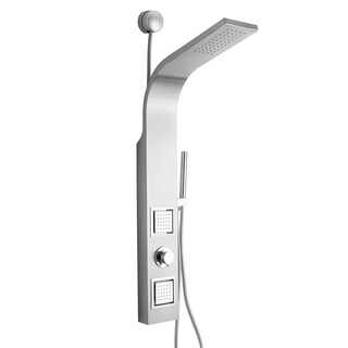 "Golden Vantage 39"" Stainless Steel Easy Connection Water Massage Rainfall Wall Mount Multi-Function Shower Panel Tower System"