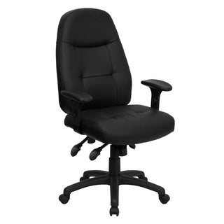 Bonded Leather Black, Brown Office Chair