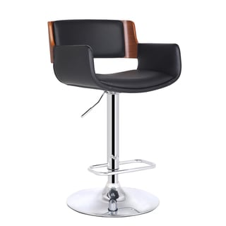 Adeco Bentwood Adjustable Height Bar Stool
