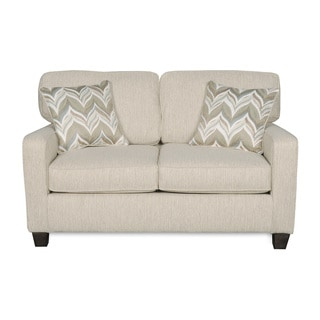Sofab Austin Almond Love Seat With Two Accent Pillows