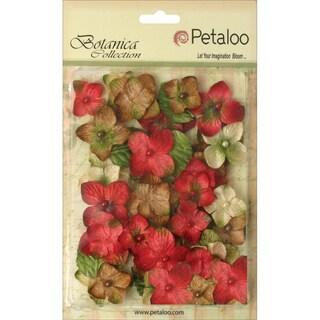 Floral Embellishments Velvet Hydrangeas 1in 36/PkgRed